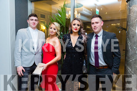 At the Austin Stacks Centenary Gala Dinner in the Rose Hotel on Saturday were Calvin Foley Faith Cocks, Aisling O'Brien, Daniel Bohan