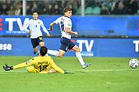 Italy's Nicolo' Barella scores the 3-0 goal <br /> Palermo 18-11-2019 Stadio Renzo Barbera <br /> UEFA European Championship 2020 qualifier group J <br /> Italy - Armenia <br /> Photo Carmelo Imbesi / Insidefoto