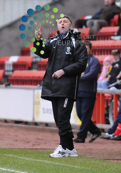Airdrie United v Livingston.Irn Bru SFL Division 1.7th March 2009 - Excelsior Stadium..Livi manager Paul Hegarty during this afternoons game...Picture by Steven Carrie.