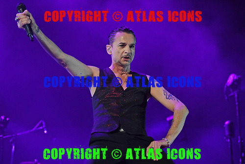 MIAMI, FL - SEPTEMBER 15: Dave Gahan of Depeche Mode performs at the AmericanAirlines Arena on September 15, 2017 in Miami Florida. Credit Larry Marano © 2017