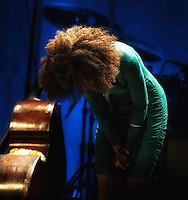Esperanza Spalding en concierto en el Teatro Orpheum de Boston, Massachusetts el 22 de abril de 2012. <br /> (Foto:&copy;Rocco Coviello/MediaPunch/NortePhoto.com*)<br /> **SOLO*VENTA*EN*MEXICO**