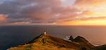 Sunrise at Cape Reinga Lighthouse. Northland Region. New Zealand.