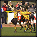 06/04/2002                 Copyright Pic : James Stewart .Ref :     .File Name : stewart-alloa v qos   17.MAX CHRISTIE CELEBRATES WITH TEAM MATES AFTER SCORING ALLOA'S SECOND GOAL.....James Stewart Photo Agency, 19 Carronlea Drive, Falkirk. FK2 8DN      Vat Reg No. 607 6932 25.Office     : +44 (0)1324 570906     .Mobile  : + 44 (0)7721 416997.Fax         :  +44 (0)1324 630007.E-mail  :  jim@jspa.co.uk.If you require further information then contact Jim Stewart on any of the numbers above.........