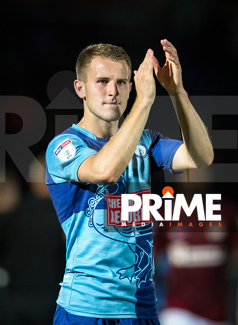 Bryn Morris (on loan from Shrewsbury Town) of Wycombe Wanderers during the Carabao Cup match between Wycombe Wanderers and Northampton Town at Adams Park, High Wycombe, England on 14 August 2018. Photo by Andy Rowland.
