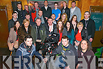The new production 'Bouncers' was filmed in Courtney's Bar in Killarney last Monday and promotes Film and TV in Killarney. It tells the story of a typical Saturday night and all the fun that goes with it. The film had a cast of 28 actors, a production crew of 15 and was produced by Director Damien O'Callaghan (seated centre) and Assistant Director Denis Earlie (seated 3rd from the left).