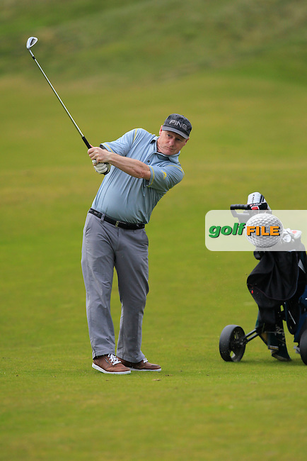 playing with Jack Hume (Naas) on the 7th fairway during the Flogas Irish Amateur Open Championship Am-Am at Royal Dublin on Monday 9th May 2016.<br /> Picture:  Thos Caffrey / www.golffile.ie