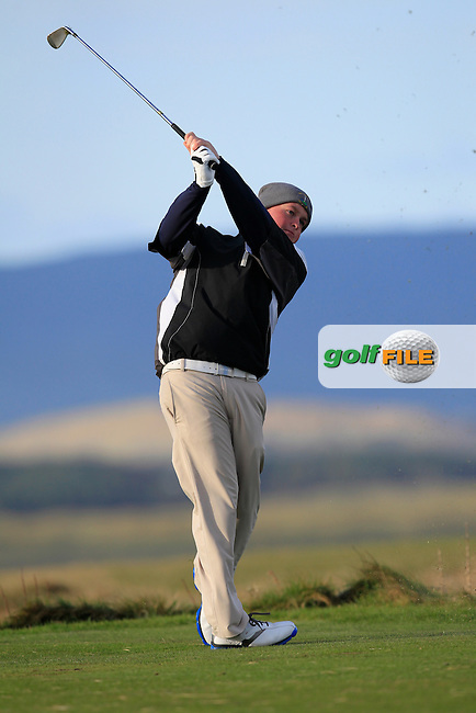 Gavin Fitzmaurice (Balcarrick) on the 4th during Match Play Round 3 of the West of Ireland Amateur Open Championship at the Co. Sligo Golf Club in Rosses Point on Monday 28th March 2016.<br /> Picture:  Golffile / Thos Caffrey