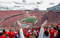 The fans cheer on the band before the start of the game against Hawaii at Ohio Stadium on September 12, 2015. (Chris Russell/Dispatch Photo)