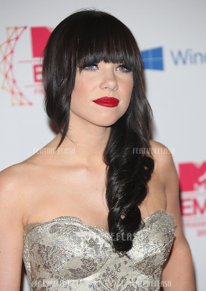 Carly Rae Jepsen arriving for the The MTV EMA's 2012 held at Festhalle, Frankfurt, Germany. 11/11/2012 Picture by: Henry Harris / Featureflash