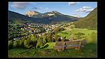 Italy, Dolomites. Personal Icons.<br /> Not a dramatic scene, not even a church in the village. What it has is a bench that invites you into the scene. Resist your first inclination to run to the bench and sit dow. Step back and include the bench, so it's there for the viewer to use.