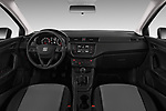 Stock photo of straight dashboard view of a 2018 Seat Ibiza Reference 5 Door Hatchback