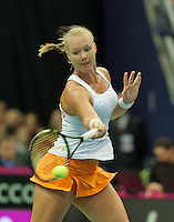 Moskou, Russia, Februari 4, 2016,  Fed Cup Russia-Netherlands, Kiki Bertens (NED)<br /> Photo: Tennisimages/Henk Koster