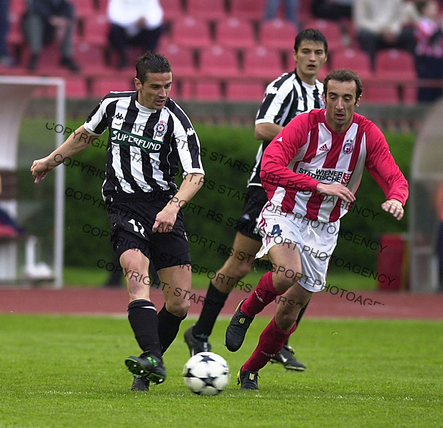 SPORT FUDBAL FSSCG KUP SRBIJE I CRNE GORE CRVENA ZVEZDA PARTIZAN Bata Mirkovic i Mladenovic&amp;#xA;21.04.2004. foto: Pedja Milosavljevic<br />