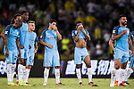 Manchester City squad reacts during the 2016 International Champions Cup China match against Borussia Dortmund at the Shenzhen Stadium on 28 July 2016 in Shenzhen, China. Photo by Victor Fraile / Power Sport Images