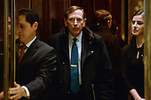 General David Petraeus, Former Director of the Central Intelligence Agency, is seen inside the elevator after entering the lobby of the Trump Tower in New York, New York, on November 28, 2016. <br /> Credit: Anthony Behar / Pool via CNP