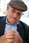 Old man in Santa Margherita di Belice, Sicily.