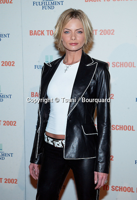 """Jaime Pressly arriving at the Fulfillement Fund's College """"Back to school"""" at the Jim Henson Studios in Los Angeles. February 8, 2002.           -            PresslyJaime03.jpg"""