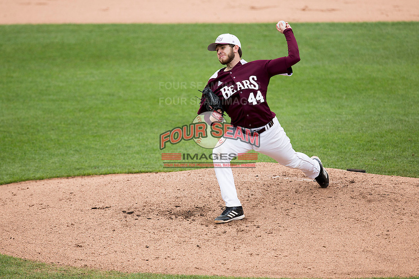 Andy Cheray #44 of the Missouri State Bears delivers a pitch during a game against the Wichita State Shockers at Hammons Field on May 5, 2013 in Springfield, Missouri. (David Welker/Four Seam Images)