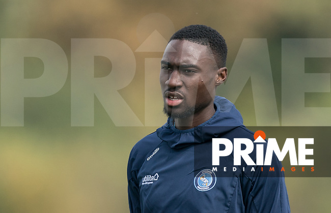 Ben Frampah (trialist) of Wycombe Wanderers during the behind closed doors friendly between Brentford B and Wycombe Wanderers at Brentford Football Club Training Ground & Academy<br /> 100 Jersey Road, TW5 0TP, United Kingdom on 3 September 2019. Photo by Andy Rowland.