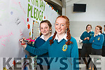 Celebrating Earth Day in Mercy Mounthawk Secondary School on Friday were: Megan Tearle and Emily Heaslip.