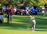 Henrik Stenson (Team Europe) on the 15th during Saturday afternoon Fourball at the Ryder Cup, Hazeltine National Golf Club, Chaska, Minnesota, USA.  01/10/2016<br /> Picture: Golffile | Fran Caffrey<br /> <br /> <br /> All photo usage must carry mandatory copyright credit (&copy; Golffile | Fran Caffrey)