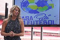 SAO PAULO, SP, 22.05.2014 - CASA PELÉ DO FUTEBOL - Atriz Karina Back durante inauguração da Casa Pelé do Futebol no Estádio Cicero Pompeu de Toledo (Morumbi) na regiao sul de Sao Paulo nesta quinta-feira, 22. (Foto: Vanessa Carvalho / Brazil Photo Press).