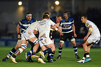 Tom Dunn of Bath Rugby takes on the Worcester Warriors defence. Aviva Premiership match, between Worcester Warriors and Bath Rugby on January 5, 2018 at Sixways Stadium in Worcester, England. Photo by: Patrick Khachfe / Onside Images