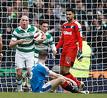Scott Brown and Andy Halliday after Celtic equalise