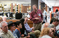 """Alumni Reunion Weekend 2019 - Alumni joined 2019 Alumni Seal Award recipient Eric Warren '69 and Special Collections and College Archives for a brief history of Eagle Rock and Oxy's place in the community as part of the """"Oxy in the Neighborhood"""" talk in the Academic Commons on Friday, June 21, 2019. Eric then led a walking tour of the neighborhood.<br /> (Photo by Marc Campos, Occidental College Photographer)"""
