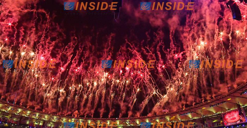 Fireworks <br /> Rio de Janeiro 05-08-2016 Maracana Stadium <br /> Olympic Games Opening Ceremony <br /> Cerimonia di Apertura Olimpiadi Rio 2016 <br /> Foto Andrea Staccioli/Deepbluemedia/Insidefoto