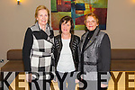 Mary Godley, Joan Casey and Maria Kenny from Ballyheigue. at the Brendan Grace Concert at Ballyroe Heights Hotel on Sunday
