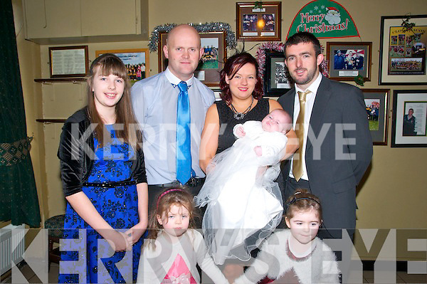 Baby Shauna with her parents Mark Toomey &amp; Rebecca Ryan, Listowel who was christened in St. Mary's Church, Listowel on 22nd December last by Canon Declan O'Connor.<br />