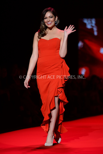 WWW.ACEPIXS.COM<br /> February 12, 2015 New York City<br /> <br /> Bethany Mota walks the runway at the Go Red For Women Red Dress Collection 2015 presented by Macy's fashion show during Mercedes-Benz Fashion Week Fall 2015 at The Theatre at Lincoln Center on February 12, 2015 in New York City.<br /> <br /> Please byline: Kristin Callahan/AcePictures<br /> <br /> ACEPIXS.COM<br /> <br /> Tel: (646) 769 0430<br /> e-mail: info@acepixs.com<br /> web: http://www.acepixs.com