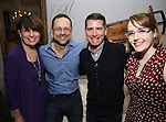 Beth Leavel, Matthew Sklar, Chad Beguelin and Caitlin Kinnunen attends the Dramatists Guild Fund Salon with Matthew Sklar and Chad Beguelin at the home of Gretchen Cryer on December 8, 2016 in New York City.