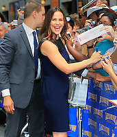 Jennifer Garner arrives at The Late Show in New York