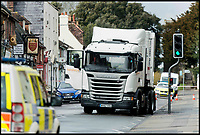 BNPS.co.uk (01202 558833)Pic: LeeMcLean/BNPS<br /> <br /> The accident scene on 29th March, 2018.<br /> <br /> A lorry driver who sarcastically clapped a motorist moments before he knocked down and killed a young boy on a pedestrian crossing was today cleared of causing death by dangerous driving.<br /> <br /> Dean Phoenix admitted he made a mistake by failing to see a red light at the crossing to allow three-year-old Jaiden Mangan and his family walk across.<br /> <br /> Phoenix, 44, pulled away without seeing them and collided with Jaiden, who suffered fatal chest and abdominal injuries.<br /> <br /> A court heard that the Phoenix had been distracted at the time because he was 'sarcastically clapping' another motorist just as he drove off.