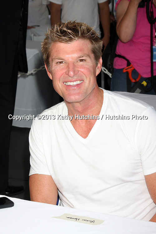 LOS ANGELES - AUG 23:  Winsor Harmon at the Bold and Beautiful Fan Meet and Greet at the Farmers Market on August 23, 2013 in Los Angeles, CA