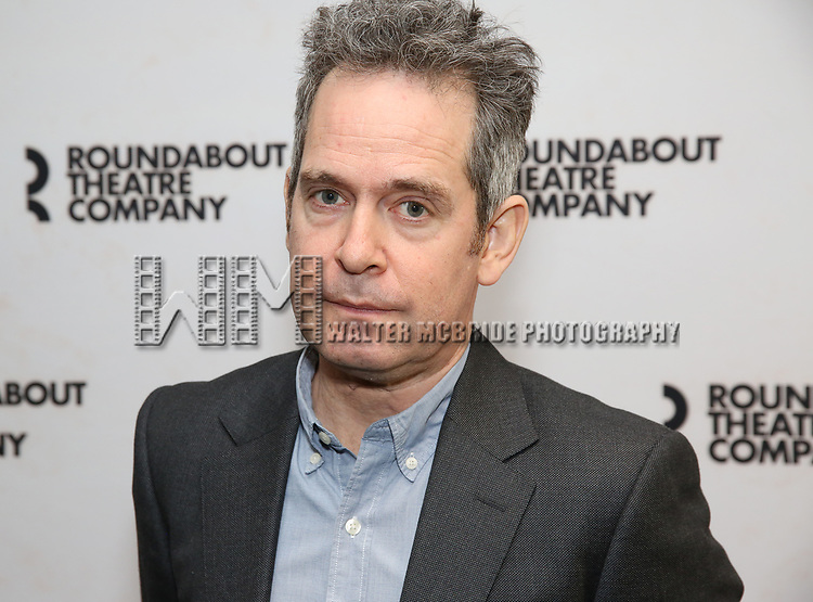 """Tom Hollander attends the """"Travesties"""" Meets The Press on March 6, 2018 at the Roundabout Theatre in New York City."""