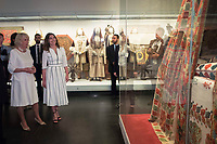 Pictured: Betty (Peristera) Baziana (2nd L) and the Duchess of Cornwall at Benaki Museum in Athens, Greece. Wednesday 09 May 2018 <br /> Re: Visit of the Duchess of Cornwall to the Benaki Museum as part of her official visit with HRH Prnce Charles to Athens, Greece.