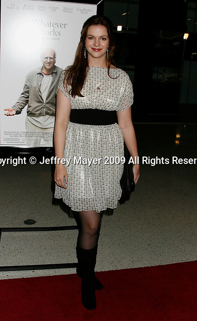 "WEST HOLLYWOOD, CA. - June 08: Actress Amber Tamblyn arrives at the Los Angeles premiere of ""Whatever Works"" at the Pacific Design Center on June 8, 2009 in West Hollywood, California."