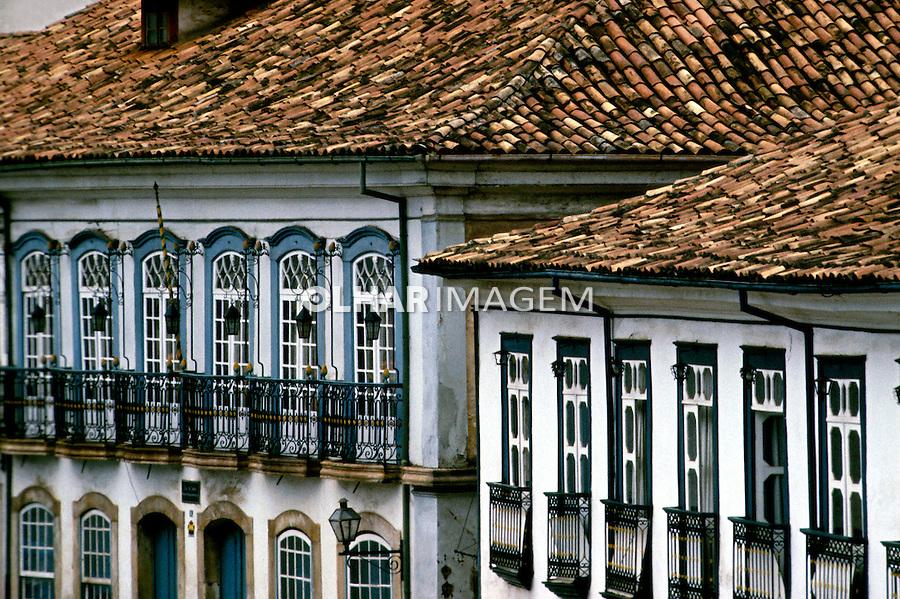 Arquitetura colonial em Ouro Preto, Minas Gerais. 1985. Foto de Juca Martins.