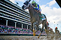 LOUISVILLE, KY - MAY 06: Always Dreaming #5, ridden by John Velazquez, wins the Kentucky Derby on Kentucky Derby Day at Churchill Downs on May 6, 2017 in Louisville, Kentucky. (Photo by Scott Serio/Eclipse Sportswire/Getty Images)