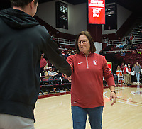 Stanford, CA - January 24, 2020: Lele Forood at Maples Pavilion. The Stanford Cardinal defeated the Colorado Buffaloes in overtime, 76-68.
