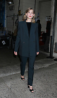 November 02, 2018 Rosamund Pike at Live with Kelly &amp; Ryan to talk about new movie A Private War  in New York. November 02, 2018  <br /> CAP/MPI/RW<br /> &copy;RW/MPI/Capital Pictures