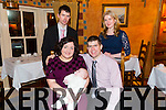 Janice and Liam O'Sullivan from Abbeydorney had baby Anna christened at St. Bernards Church, Abbedorney.  here with God parents Mike O'Sullivan and Stephanie Farrington and celebrating with family and friends at the Meadowlands on Saturday
