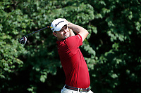 Justin Rose (ENG) tees off on the 9th hole during the first round of the 100th PGA Championship at Bellerive Country Club, St. Louis, Missouri, USA. 8/9/2018.<br /> Picture: Golffile.ie | Brian Spurlock<br /> <br /> All photo usage must carry mandatory copyright credit (© Golffile | Brian Spurlock)