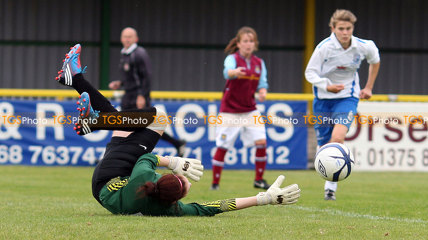 West Ham go close - West Ham United Ladies vs Gillingham Ladies, FA Womens Premier League South at Thurrock FC, Thurrock - 30/09/12 - MANDATORY CREDIT: Rob Newell/TGSPHOTO - Self billing applies where appropriate - 0845 094 6026 - contact@tgsphoto.co.uk - NO UNPAID USE.