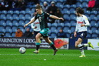 George Byers of Swansea City in action during the Sky Bet Championship match between Preston North End and Swansea City at the Deepdale Stadium in Preston, England, UK. Saturday 01 February 2020