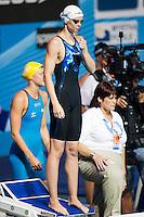 Britta Steffen GER<br /> Women's 4x100m Freestyle heats<br /> Swimming<br /> 15th FINA World Aquatics Championships<br /> Barcelona 19 July - 4 August 2013<br /> Palau Sant Jordi, Barcelona (Spain) 28/07/2013 <br /> © Giorgio Perottino / Deepbluemedia.eu / Insidefoto