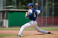 30 july 2010: Anthony Piquet of France pitches against Sweden during Sweden 3-2 win over France, in day 6 of the 2010 European Championship Seniors, at TV Cannstatt ballpark, in Stuttgart, Germany.